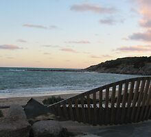 Sunset at beach in Port Elliot by Lillydale1