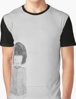 Illustration of Girl Graphic T-Shirt