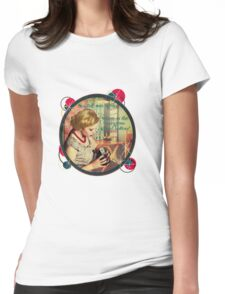 Where is the Instagram upload button? Womens Fitted T-Shirt