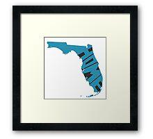 Florida HOME state design Framed Print