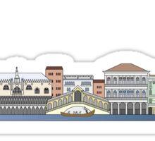 Venice skyline colored Sticker