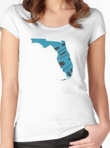 Florida HOME state design Women's Fitted Scoop T-Shirt