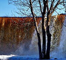 Jägala waterfall in April by Bluesrose