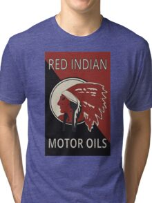 Red Indian Motor Oils Tri-blend T-Shirt