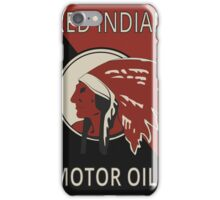 Red Indian Motor Oils iPhone Case/Skin