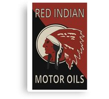 Red Indian Motor Oils Canvas Print