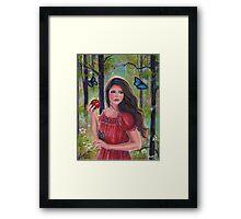 Forbidden fruit fairytale art by Renee Lavoie Framed Print