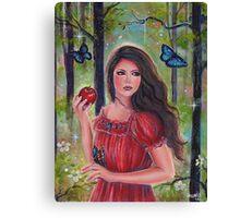 Forbidden fruit fairytale art by Renee Lavoie Canvas Print