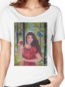 Forbidden fruit fairytale art by Renee Lavoie Women's Relaxed Fit T-Shirt