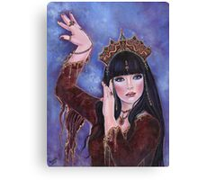 Dance Macabre egyptian woman fantasy art by Renee Lavoie Canvas Print