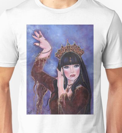 Dance Macabre egyptian woman fantasy art by Renee Lavoie Unisex T-Shirt
