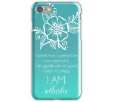 Throat Chakra Affirmation iPhone Case/Skin