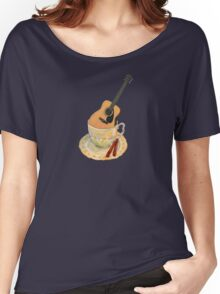 Music is Everyone's Cup of Tea - Guitar Women's Relaxed Fit T-Shirt