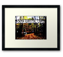Camp Crystal Lake Framed Print