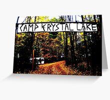 Camp Crystal Lake Greeting Card