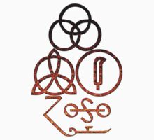 LED ZEPPELIN BAND SYMBOLS (BUBBLING VOLCANO) by Endlessgrief