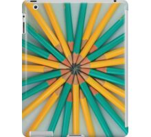 Green and Yellow Pencil Patterns iPad Case/Skin