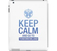 Keep Calm and go to Tomorrowland - blue gradient iPad Case/Skin