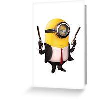 Minions Hitman Greeting Card