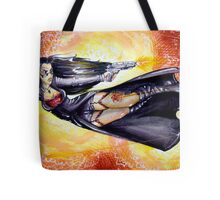 Firey Gunfight Tote Bag