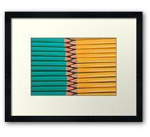 Yellow and Green Pencils Framed Print