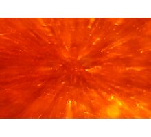 Red Hot Abstract Photographic Print