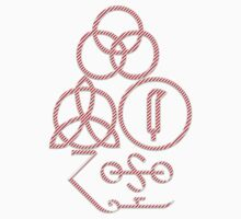 LED ZEPPELIN BAND SYMBOLS (CANDY CANE) by Endlessgrief