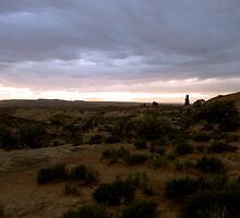 Sunset in Arches National Park, Utah. by philw