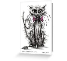 Little Fluffy the cute kitty Greeting Card