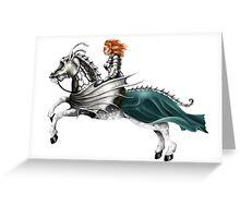 Mounted Knightess Greeting Card