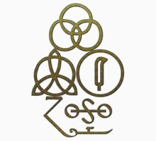 LED ZEPPELIN BAND SYMBOLS (CRACKED DESERT) by Endlessgrief