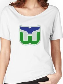 HARTFORD WHALERS HOCKEY RETRO Women's Relaxed Fit T-Shirt