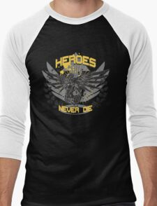 Heroes never die  Men's Baseball ¾ T-Shirt