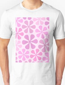 Abstract Flowers in Pinks Unisex T-Shirt