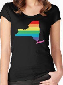 rainbow new york Women's Fitted Scoop T-Shirt