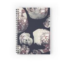 Marbled Patchwork Brush Strokes Spiral Notebook