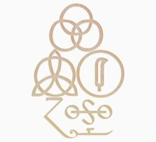LED ZEPPELIN BAND SYMBOLS (CREAMSICLE) by Endlessgrief