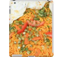Noodles Vegetables and Fried Eggs iPad Case/Skin