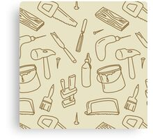 Woodworking tools pattern Canvas Print