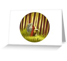 Little Red and the Iron Wolf Greeting Card
