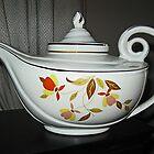 Autumn Leaf Teapot by Monnie Ryan