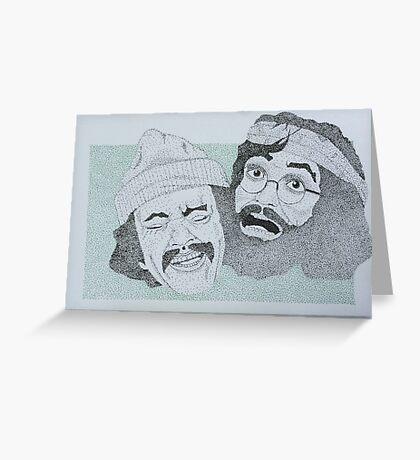 Cheech and Chong dotworks Greeting Card