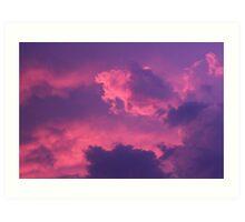 Turbulent Clouds Art Print