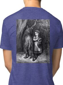 Fairy Tale, Little Red Riding Hood, Gustave Dore, Tales of Mother Goose Tri-blend T-Shirt