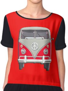 Volkswagen, Van, RED, Camper, Split screen, 1966 Volkswagen, Kombi (North America) Chiffon Top