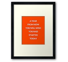 A year from now... Framed Print