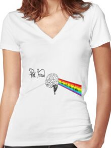 the dark side of mind Women's Fitted V-Neck T-Shirt