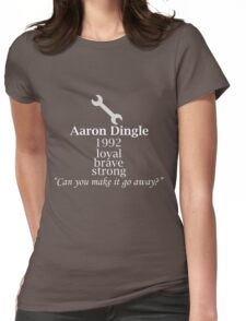 Aaron Dingle Text Womens Fitted T-Shirt