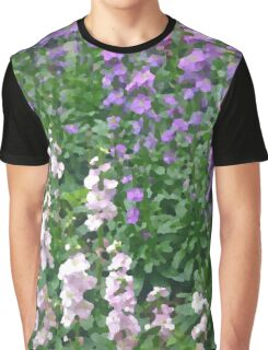 Watercolor Effect of Colorful Flowers Graphic T-Shirt