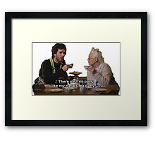 Flight of the Conchords - Tea Party Framed Print